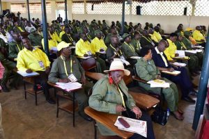 NRM cadres taking notes
