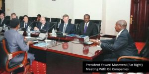President Museveni meeting with Oil companies