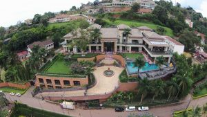 The aerial view of Sudhir's plush home