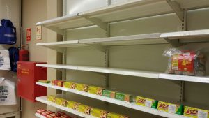Empty Shelves of Nakumatt Nalya