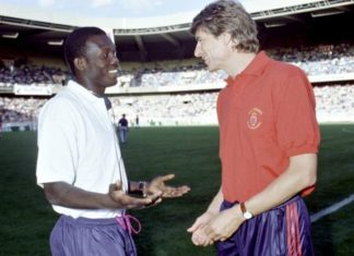 Wenger with Weah in 90's