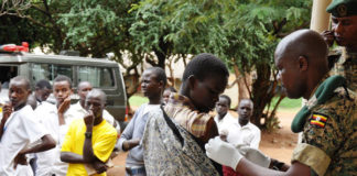 UPDF doctors vaccinate Students of Moroto high