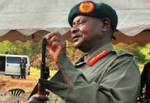 File photo: President Museveni with AK47