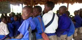 Pupils enjoy a lesson in a UPE school