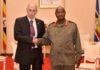 The new Israeli ambassador to Uganda H.E Noah Gal Gendler with President Museveni