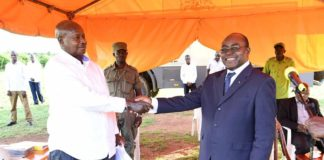 File photo: President Museveni with Rwenzururu king Charles Wesley Mumbere