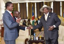 File photo: Zambia's President Edgar Lungu with President Museveni