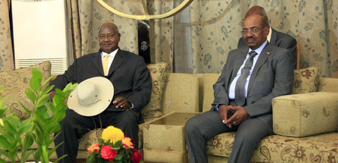 file photo: President Museveni with Sudan's Omar Bashir