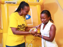 Ms Annie Bilenge Tabura , MTN's general manager, Sales and Distribution