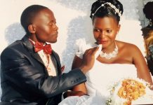 Happy times: Eric Ssenyonjo Kiddu (RIP) with Jackline Nakku