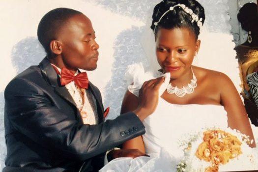 Happy times: Eric Ssenyonjo Kiddu (RIP) with Jackline Nakku