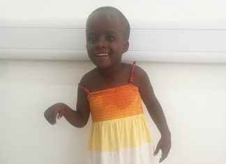 Juliet Nanziri one of the Lato Red beneficiaries whose right leg suffered from paralysis is now able to walk on her own after she received corrective surgery from UMC University hospital.