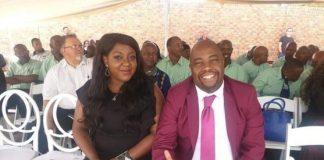 Embattled mayor, Stevens Mokgalapa and Susan Senkubuge getting Cozy