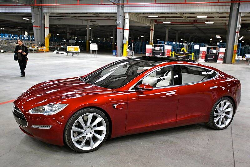 First Tesla Model 3 Electric Car Rolling Off Production Line July 11 2017 Adver