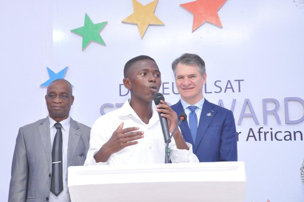 Ntare student, Amos Mumbere wins 2017 DStv Eutelsat Star -Africa