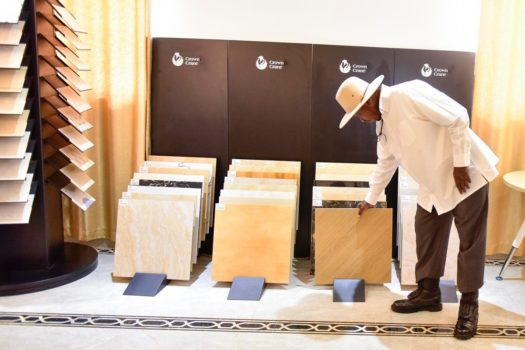 Museveni Commissions Tiles Manufacturing Industry In