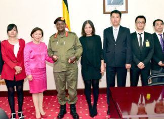 File photo: President Museveni with Chinese Investors
